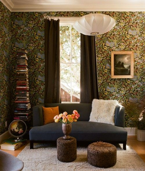 Interior Designs with William Morris Wallpaper Interiordesignshome.com