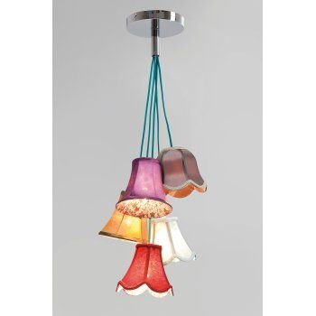 Saloon Flowers 5 Shades Pendant Lamp Ceiling Light