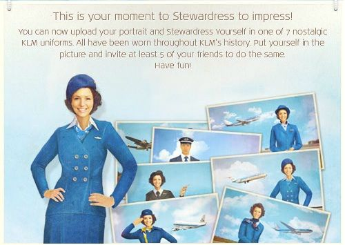 KLM does it again – dress like a stewardess on Facebook