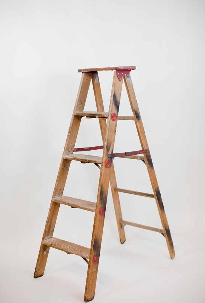 5 wood a frame ladder tin can game do we have a nice wood ladder specific wedding pieces pinterest wood ladder - Wooden A Frame Ladder