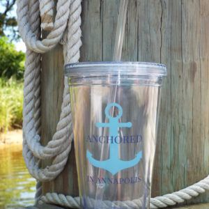 Acrylic Cup with Straw 7022