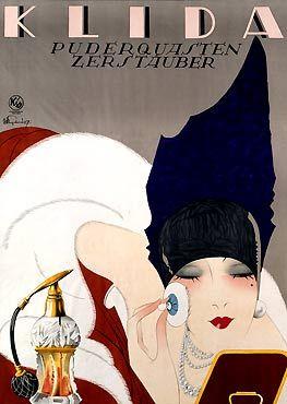 Poster for Klida vaporizer (1927) by German graphic designer & illustrator Julius Ussy Engelhard (1883-1964). via so you think you can see