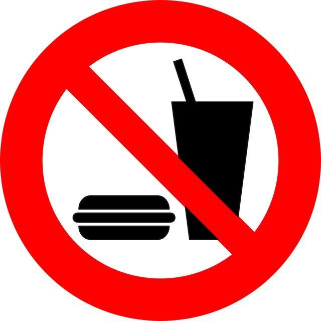 Oznaczenie informuje o zakazie wstępu ze posiłkami do pojazdu przystosowanego do transportu zbiorowego. Naklejki powinny być umieszczone w miejscach...