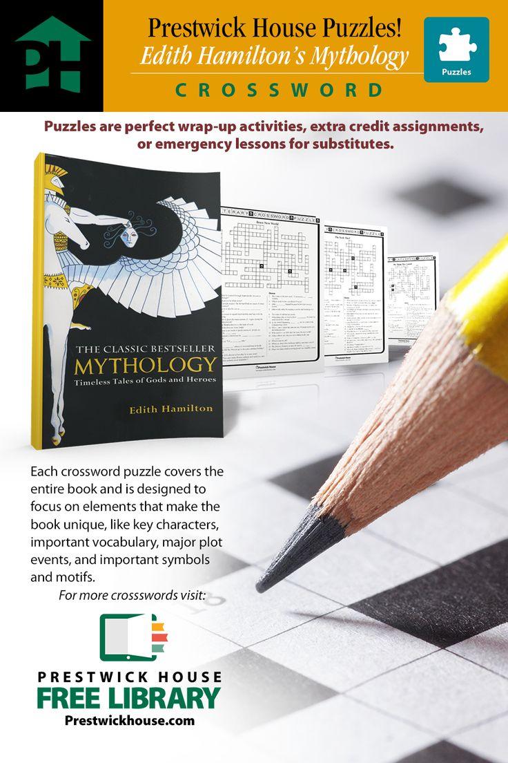 Edith Hamilton's Mythology Free Crossword Puzzle