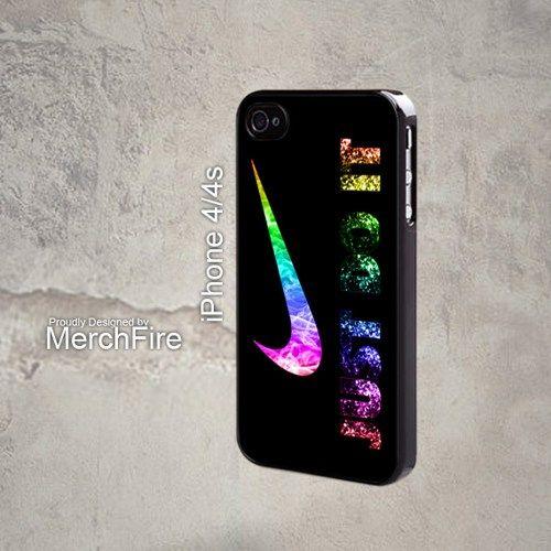 Nike Just Do It glitter Smoke Iphone 4 Case   merchfire - Accessories on ArtFire