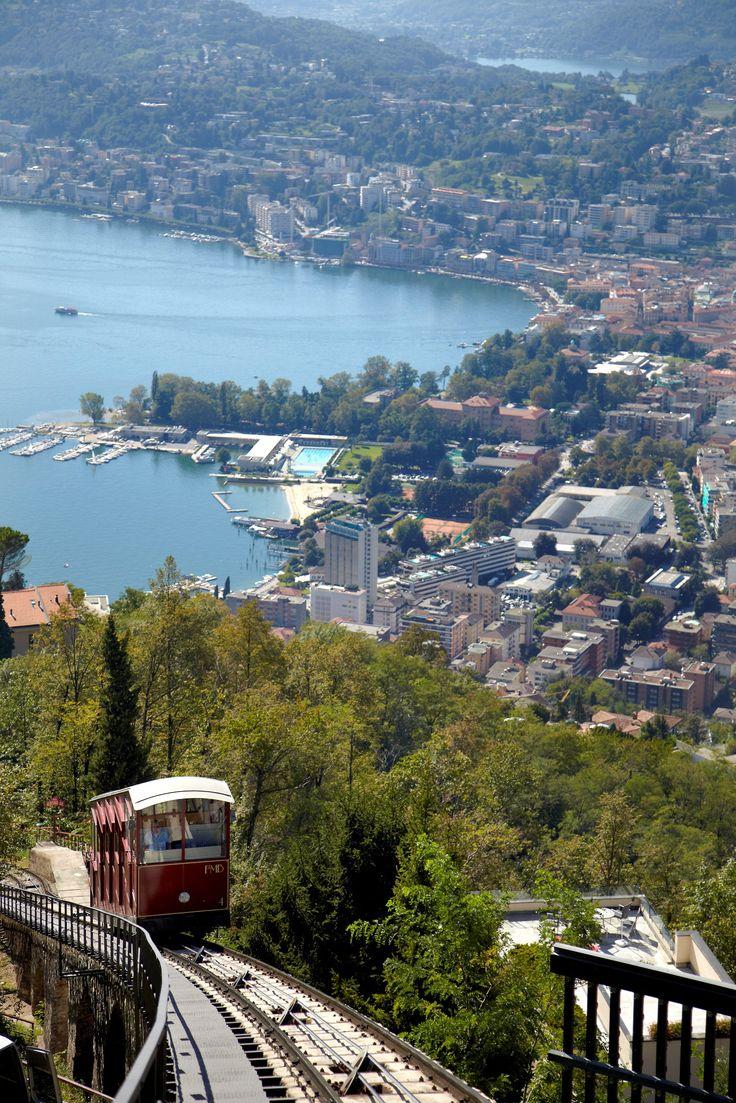 Funicular in Lugano, Canton of Ticino, Switzerland