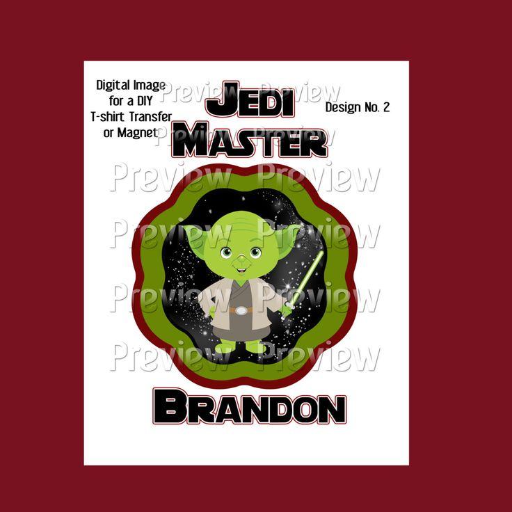 Printable Jedi Master Yoda T-shirt Transfer or Magnet - DIY Star Wars Shirt - Personalized Yoda Shirt - Star Wars Weekend Shirt by FrostedMouseMemories on Etsy