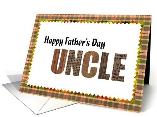 happy father's day Uncle card Father's Day Pinterest