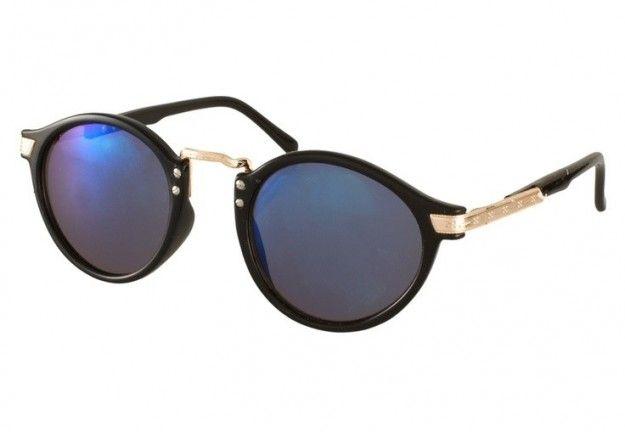 Gafas Asos con moldura negra y espejo