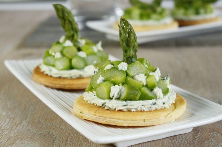 Tartelette ricotta-basilic asperge-citron vert