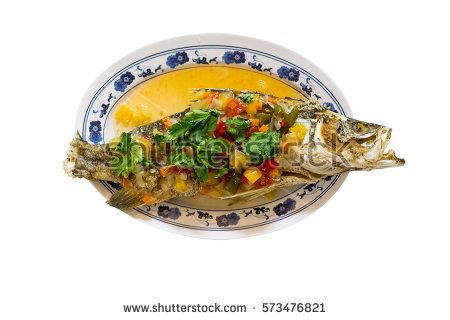 Fried snapper with sweet and sour sauce