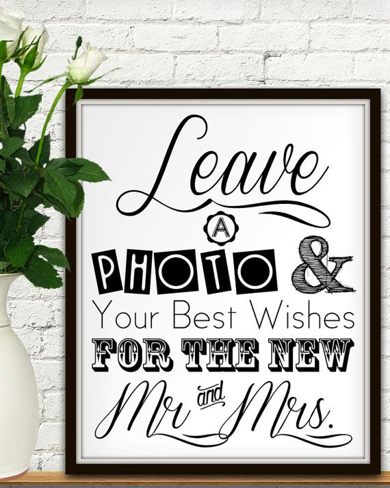 Leave a photo and your best wishes for the new Mr. and Mrs! Add some pizzazz to your wedding photo guestbook service with this bold yet traditional
