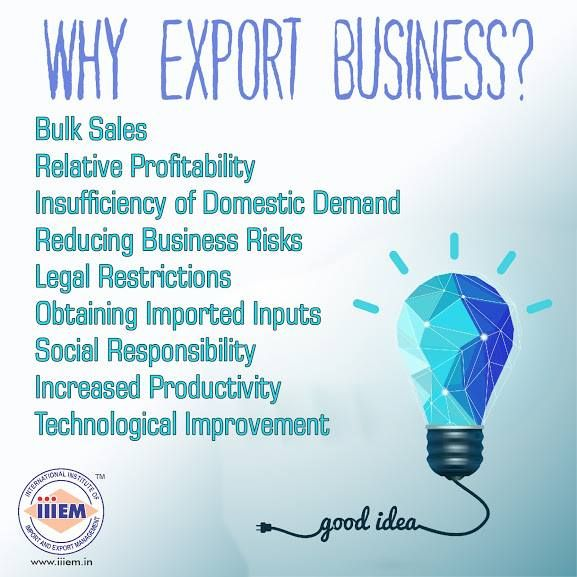 Why Export Business