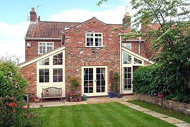 small glazed oak extensions on cottage - Google Search