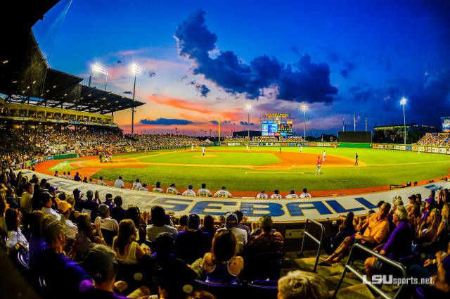 Alex Box Stadium Home of the Six Time National Champions LSU Tigers Baseball 💛⚾️🐯💜