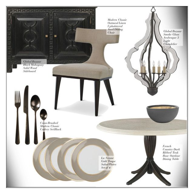 """""""Dining Room Decor"""" by kathykuohome ❤ liked on Polyvore featuring interior, interiors, interior design, home, home decor, interior decorating, Freddy, dining room, diningroom and Home"""