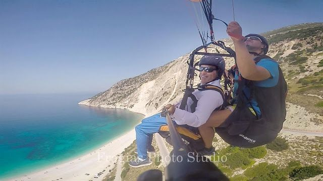 Photographer Professional Art Pj Wedding and Baptism Kefalonia Ithaki Zante,Photography in Greece,: After Wedding Photogtaphy Groom and bride Paragliding in Myrtos Kefalonia