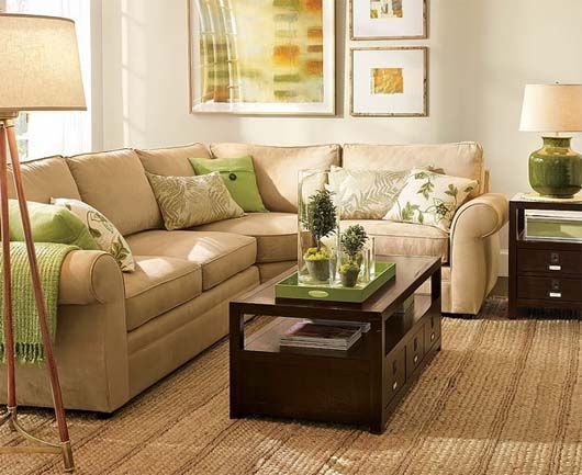 Green and brown interior decoration 6 decor color - Green living room ideas decorating ...