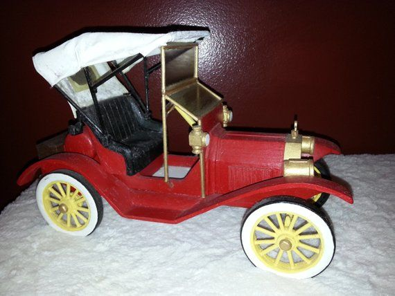 Vintage Handcrafted 1911 Ford Model T Model Car Handcrafted Old Classic Cars Model T Toy Car