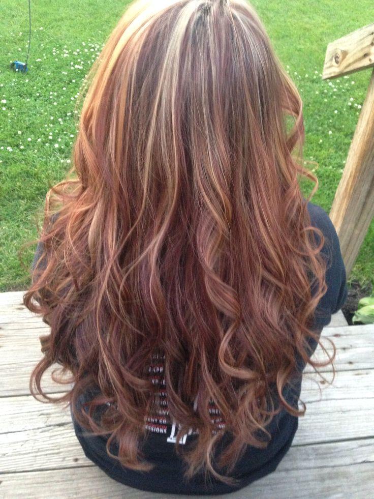 Caramel highlights on red hair | hair | Pinterest