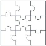 9 puzzle piece template