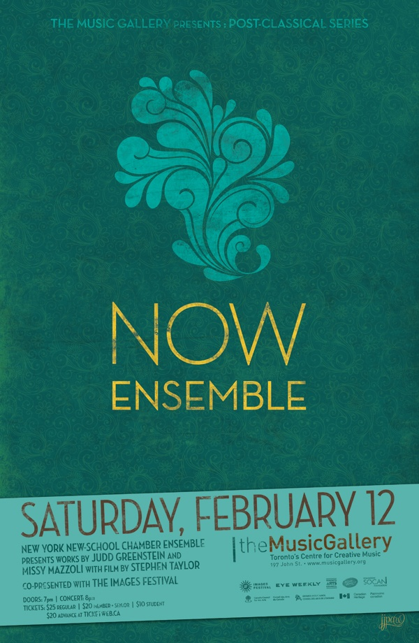Now Ensemble  •  Music Gallery poster  •  designed by jjparé  •  jjpare.tumblr.com