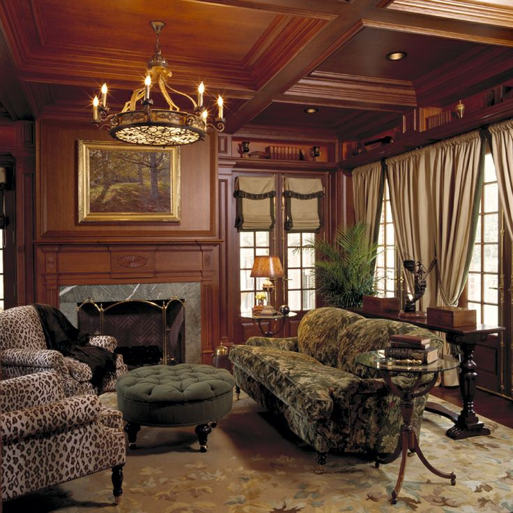 Library Den Atlanta Home Of Interior Designer Peggy: Wood Paneling On Pinterest