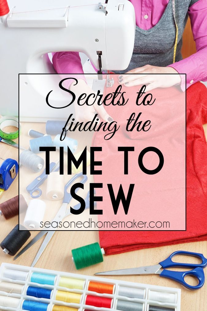 Do you struggle with finding time to sew? Does it seem like time slips away before you can even begin a project. Follow these proven tips and you will be able to fit sewing into your life.