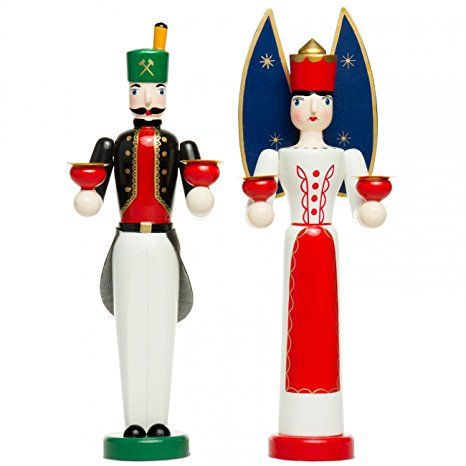 SIKORA Series A Angel and Miner Figures, Farbe Modell RM / NK:A03 SET aus Engel und Bergmann;Größe RM / NK:Höhe ca. 30 bzw. 31.5 cm