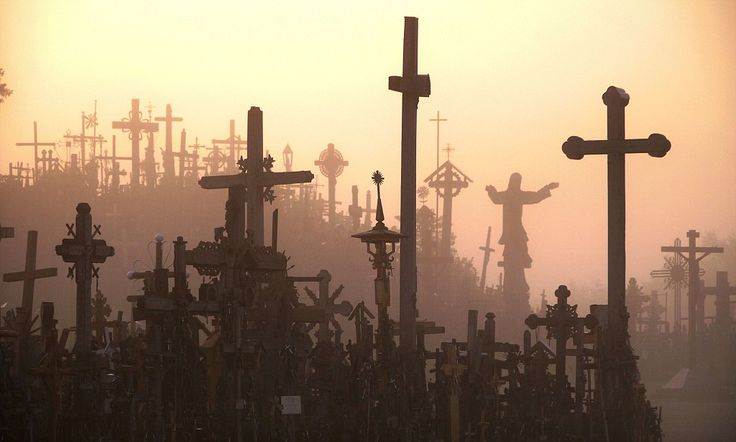 Mysterious hill of crosses where pilgrims actually believe Christ can perform miracles