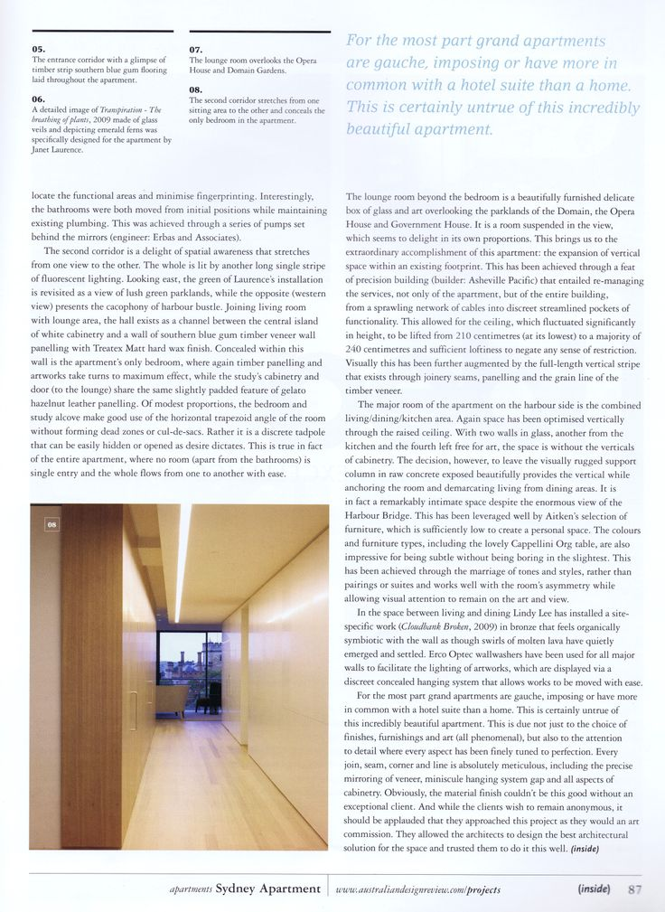 (inside) issue 58 2009 Page 7                         Brooke Aitken Design
