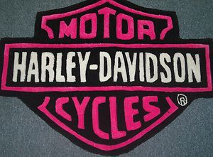 Pink Harley Davidson patch.