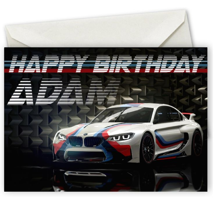 Personalised BMW Birthday Card