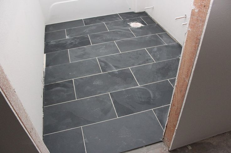 12 x 24 montauk black slate tiles floors pinterest for Bathroom 12x24 tile