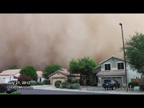 Massive dust storm hits Phoeniz, Arizona area July 21, 2012! Almost a year later after the first one hit us, I was able to scramble and grab my camera and ride out the haboob dust storm (sand storm) from beginning to end! I covered my mouth and hoped for the best and it was an amazing sight to say the least! This dust storm haboob hit the Phoeniz area including Mesa, Gilbert, Chandler, Scottsdale, and nearby Maricopa county cities.