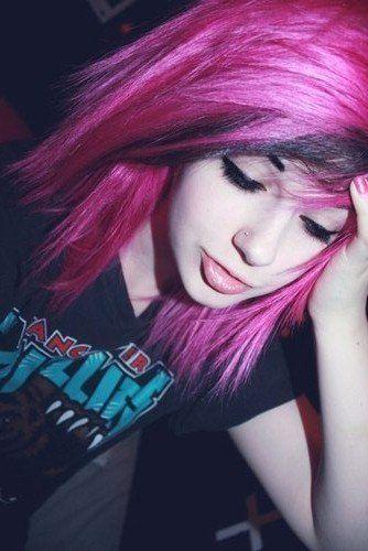 Pink Scene Hair <3