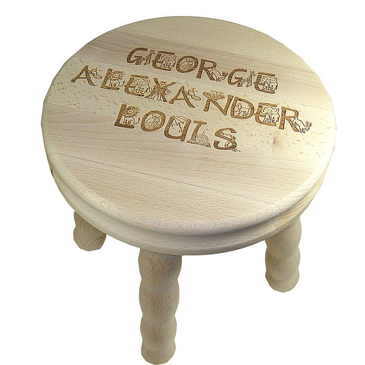 Personalised Childs Wooden Stool Woodworking Projects