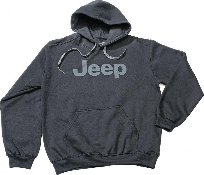 Jeep® Premium Cotton Ringspun Hoodie in Black | Jeep Parts and Accessories | Quadratec