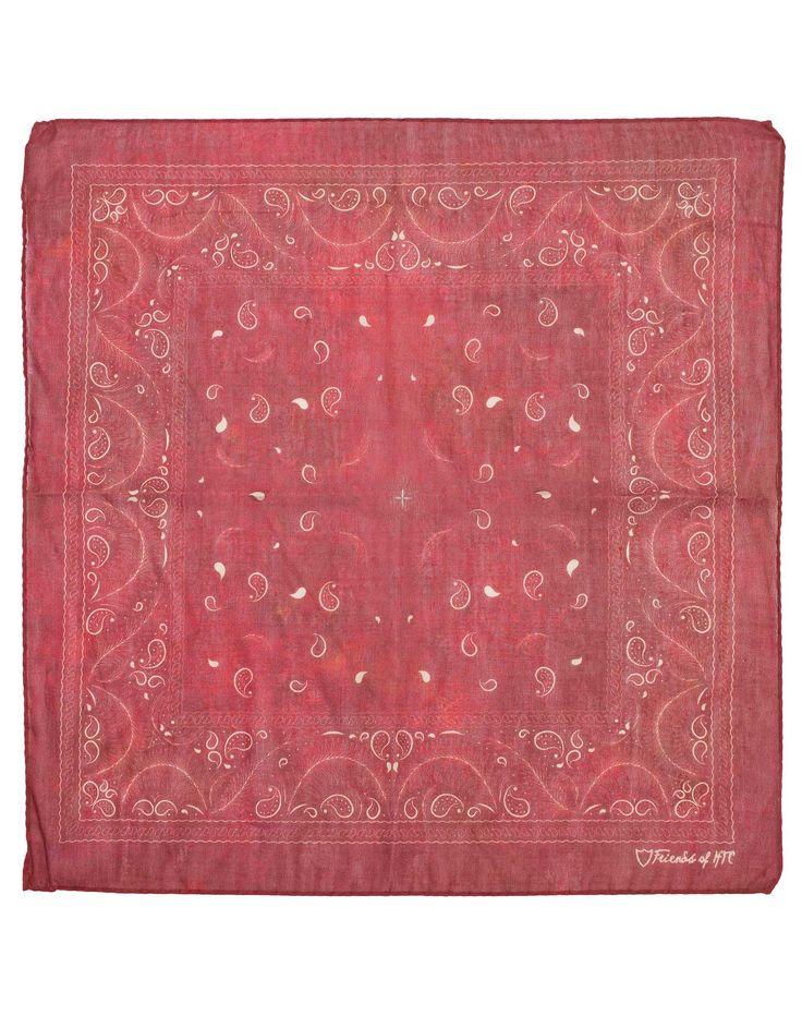 BANDANA PALMS PAISLEY -   Bandana rossa in cotone e seta, stampa Palms&Paisley, Made in Italy. #htclosangeles #tradingcompany #losangeles #weareartisans #leather #handmade