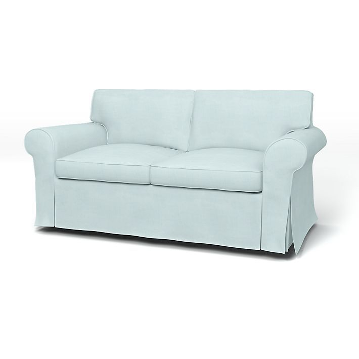 Ektorp, Housses de canapé, 2 places, Regular Fit utiliser le tissu Brera Lino Pale Aqua