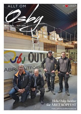 Allt om Osby nr. 7 2017  100% lokala nyheter från Osby kommun producerat av espresso reklambyrå.