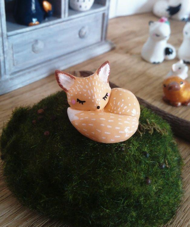Figurines décoratives, Totem de poche Mon Fennec oMamawolf - est une création orginale de oMamawolf sur DaWanda