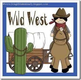 {free} Wild West MEGA Pack with learning activities for kids 3-8! Great for a westward expansion theme too!