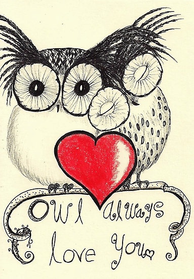 Owl always love you <3  - to my adorable daughter and for the hubster.