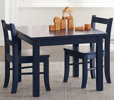 Pottery Barn Kids: My First Play Table & Chairs, Navy