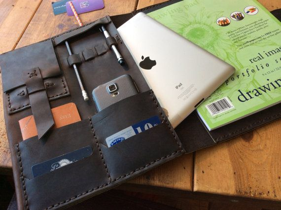 Leather organizer  iPad iPhone case leather by LUSCIOUSLEATHERNYC, $239.00