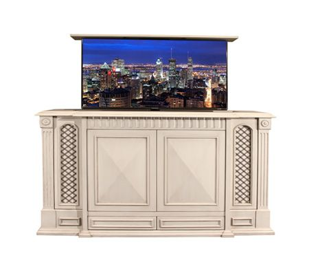 get a tv in your rv with cabinet tv lift cabinets http