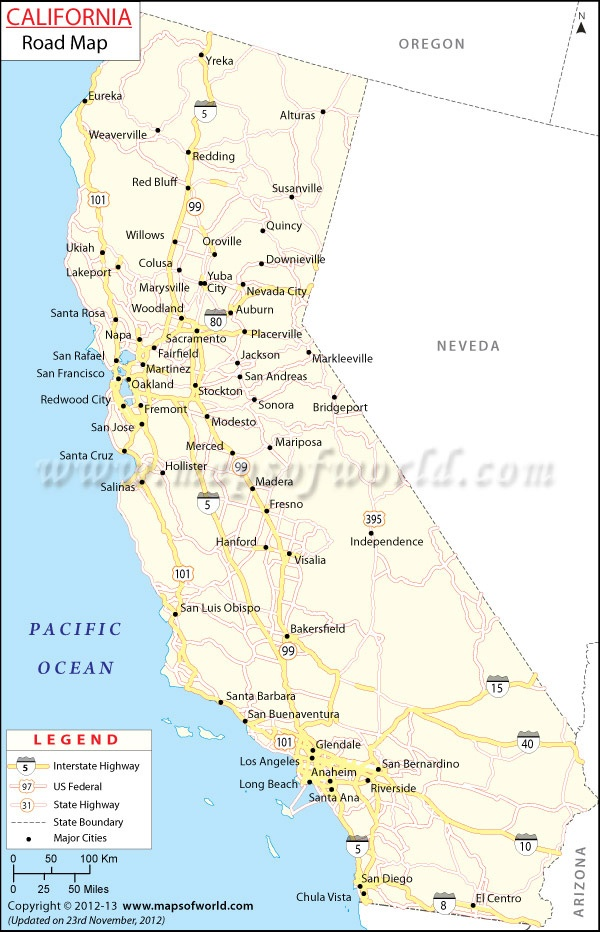 New #California Road #map, Useful tool, if you're planning a roadtrip