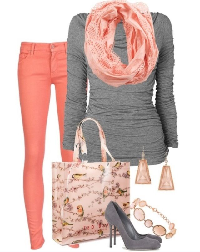 Pretty pink and gray outfit