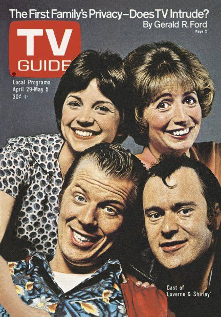 TV Guide April 29, 1978 -  Cindy Williams, Penny Marshall, Michael McKean and David L. Lander of Laverne and Shirley.